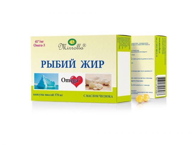 Рыбий жир Мирролла Чеснок капсулы №100 купить в Москве по цене от 40 рублей