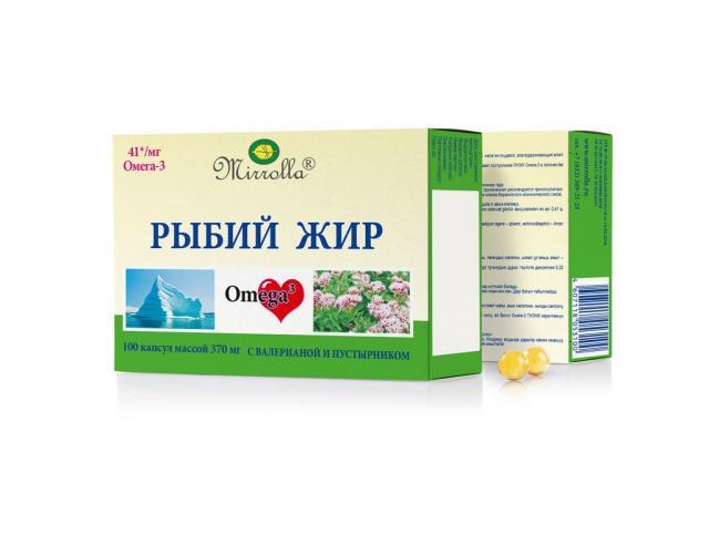 Рыбий жир Мирролла Валериана/пустырник капсулы №100 купить в Москве по цене от 40 рублей
