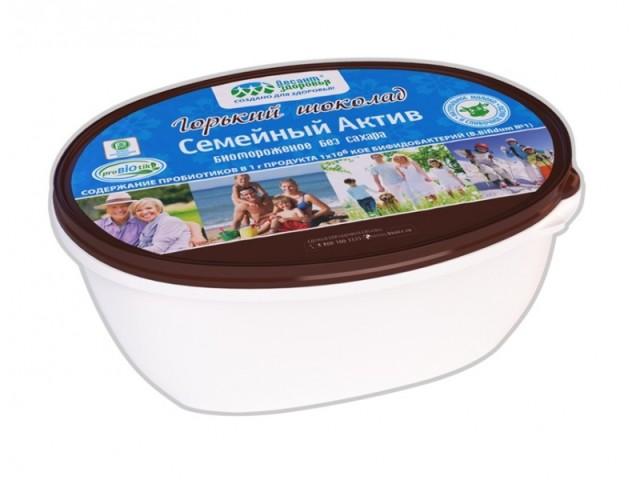 Биомороженое Семейный актив Горький шоколад 7,5% 450г купить в Москве по цене от 399.9 рублей