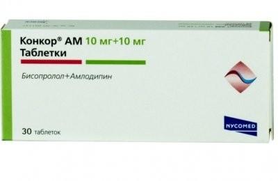 Конкор АМ таблетки 10мг+10мг №30 купить в Москве по цене от 773 рублей