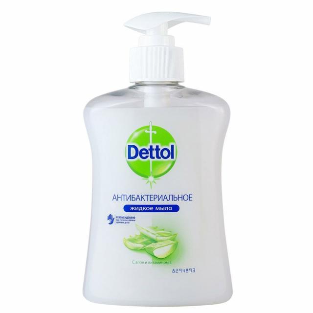 Деттол мыло жидкое антибактериальное алоэ/витамин Е 250мл купить в Москве по цене от 0 рублей