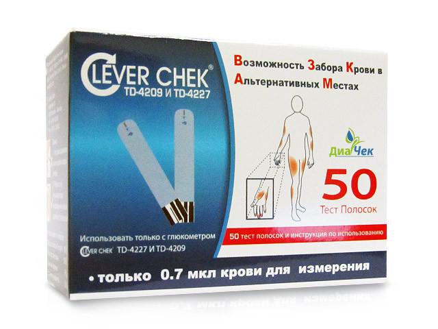 Клевер Чек тест-полоски для глюкометра TD-4227 №25х2 купить в Москве по цене от 644 рублей
