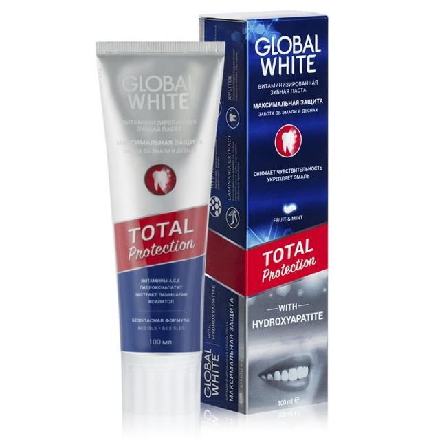 Глобал Вайт зубная паста витаминизир. 100мл купить в Москве по цене от 0 рублей