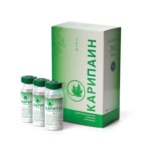 Карипаин Плюс бальзам для тела сухой 1г купить в Москве по цене от 218 рублей