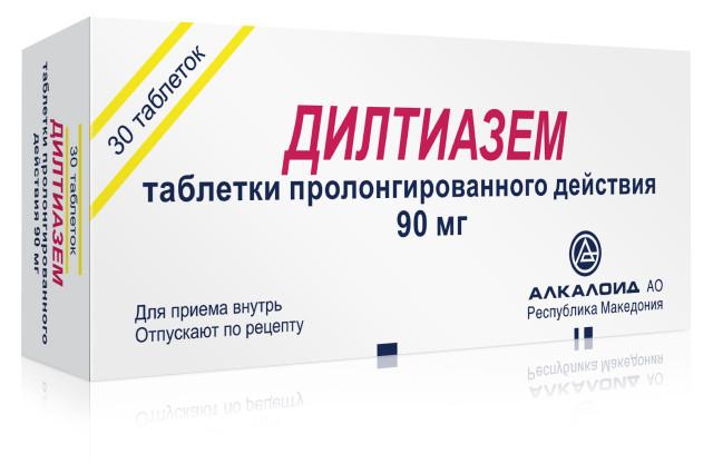 Дилтиазем Алкалоид таблетки 90мг №30 купить в Москве по цене от 148 рублей