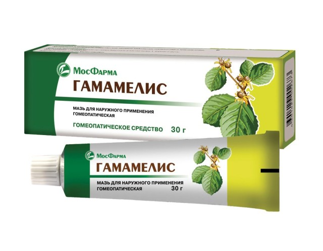 Гамамелис гомеопатическая мазь 30г купить в Москве по цене от 51 рублей