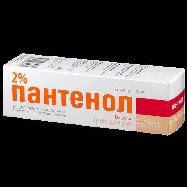 Пантенол Виалайн крем для рук смягчающий 2% 75мл купить в Москве по цене от 0 рублей