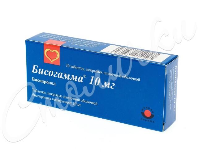 Бисогамма таблетки п.о 10мг №30 купить в Москве по цене от 176.5 рублей