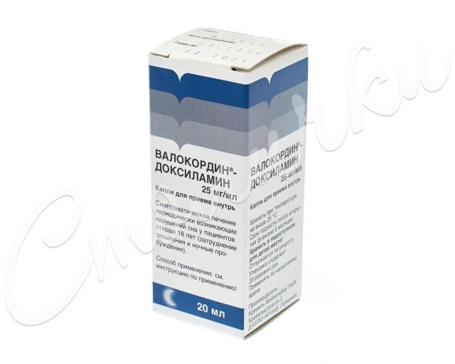Валокордин Доксиламин капли 20мл купить в Москве по цене от 268 рублей
