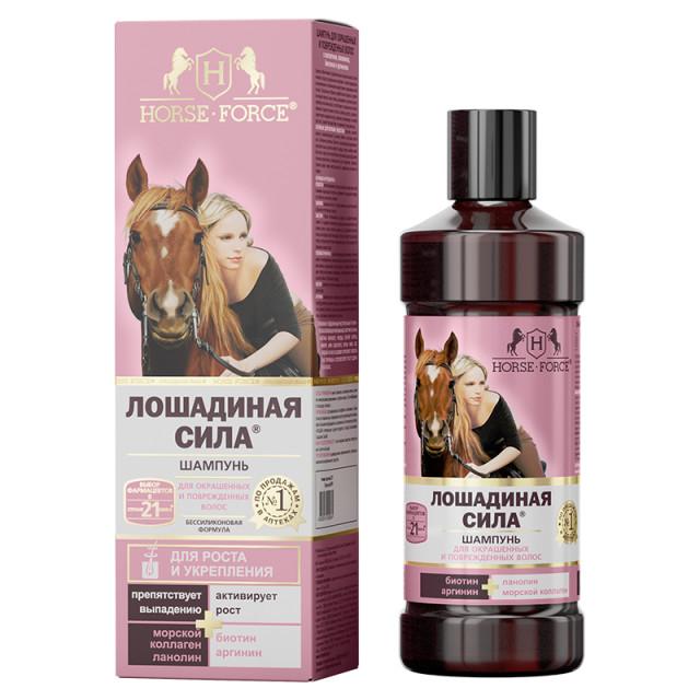 Лошадиная сила шампунь для окрашенных и поврежденных волос 500мл купить в Москве по цене от 486 рублей