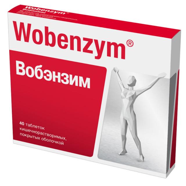 Вобэнзим таблетки п.о №40 купить в Москве по цене от 475 рублей