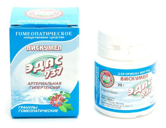 Эдас-937 Вискумел (гипертония) гранулы 20г купить в Москве по цене от 138 рублей