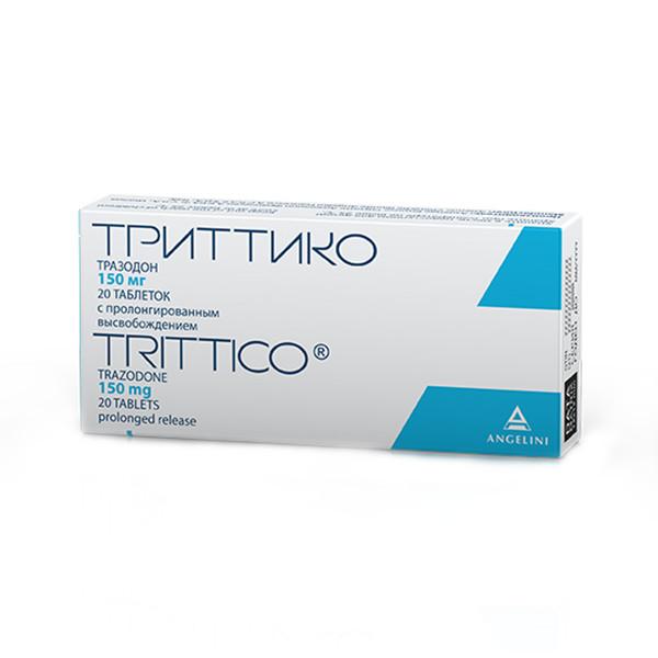Триттико таблетки с контрол. высвоб. 150мг №20 купить в Москве по цене от 780 рублей