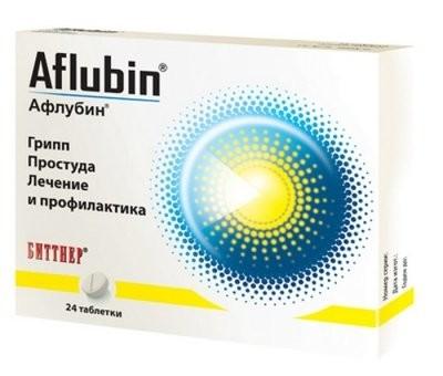 Афлубин таблетки гомеопатические №24 купить в Москве по цене от 388 рублей