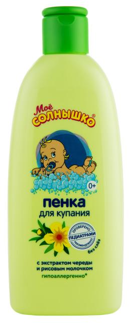 Мое солнышко пенка для купания с рождения череда 200мл купить в Москве по цене от 84 рублей