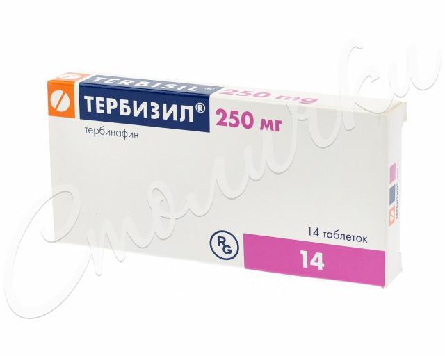 Тербизил таблетки 250мг №14 купить в Москве по цене от 913 рублей