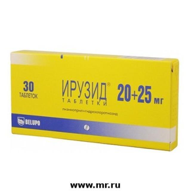 Ирузид таблетки 20мг+25мг №30 купить в Москве по цене от 445 рублей