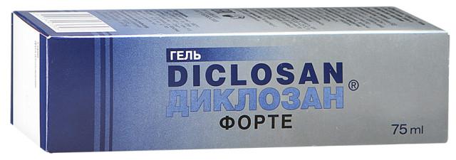 Диклозан форте гель 75г купить в Москве по цене от 146 рублей