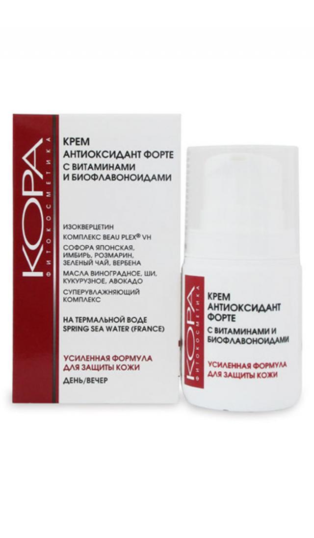 Кора крем для лица Антиоксидант форте витамины/биофлавоноиды 50мл 44065 купить в Москве по цене от 466 рублей