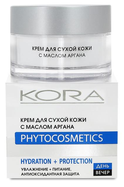 Кора крем для лица для сухой кожи масло арганы 50мл 42948 купить в Москве по цене от 464 рублей