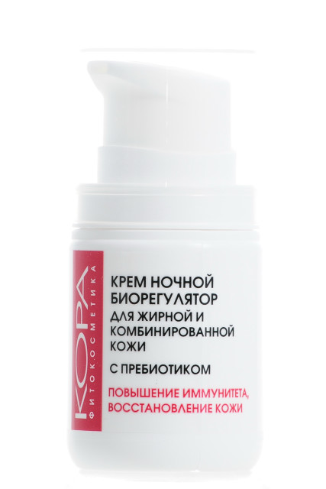 Кора крем для лица ночной биорегулятор для жирной и комбинированной кожи пребиотики 50мл 44096 купить в Москве по цене от 473 рублей