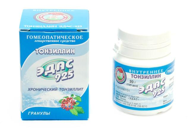 Эдас-925 Тонзиллин (аденоиды, тонзиллит) гранулы 20г купить в Москве по цене от 0 рублей