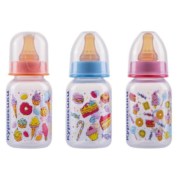 Курносики бутылочка 125мл+соска латекс 11002 купить в Москве по цене от 120 рублей