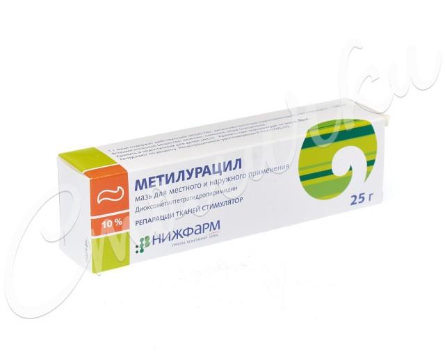 Метилурацил Нижфарм мазь 10% 25г купить в Москве по цене от 83 рублей