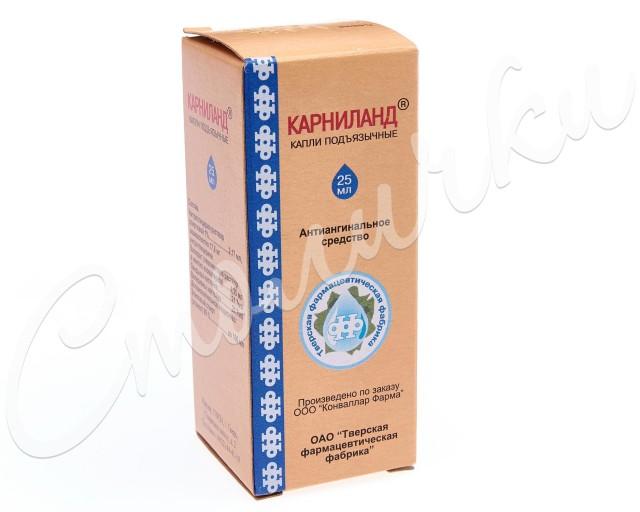 Карниланд капли подъязычные 25мл купить в Москве по цене от 116 рублей