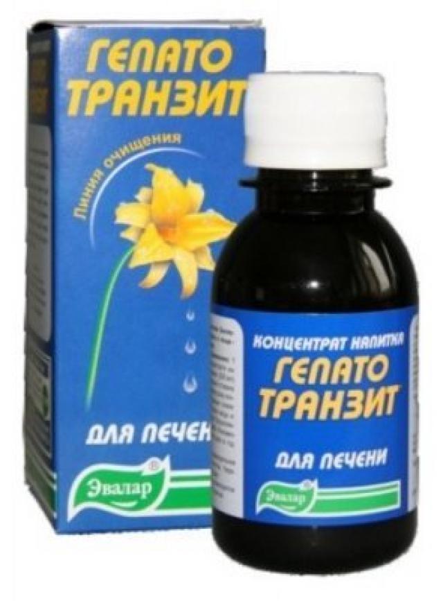 Гепатотранзит концентрат напитка Эвалар 100мл купить в Москве по цене от 180 рублей