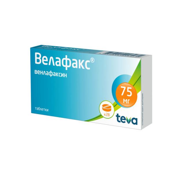 Велафакс таблетки 75мг №28 купить в Москве по цене от 787 рублей