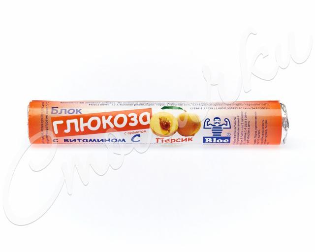 Блок Глюкоза Вит.С/Персик таблетки №18 купить в Москве по цене от 0 рублей