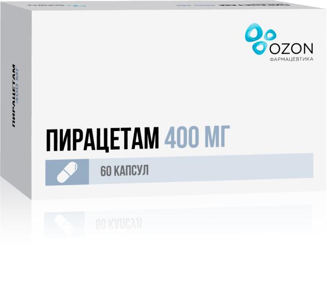 Пирацетам капсулы 400мг №60 купить в Москве по цене от 156.5 рублей
