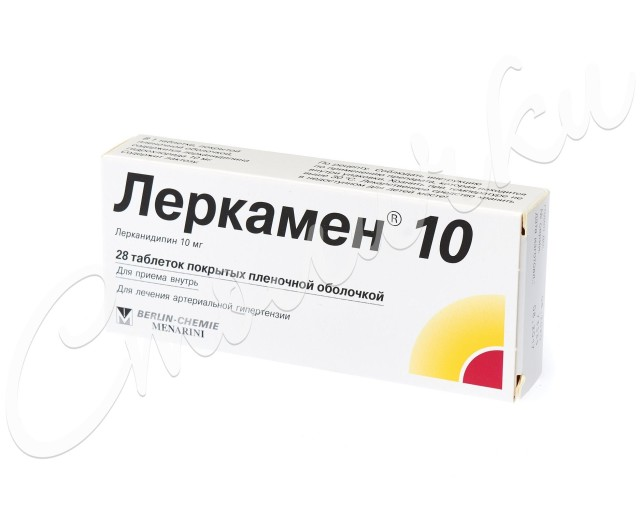 Леркамен 10 таблетки 10мг №28 купить в Москве по цене от 378 рублей