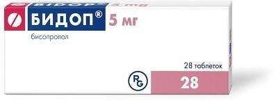 Бидоп таблетки п.о 5мг №28 купить в Москве по цене от 170 рублей