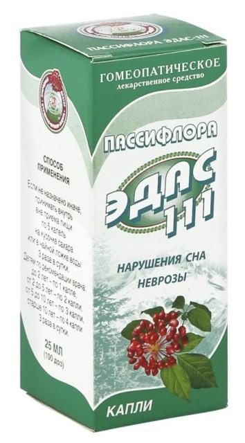 Эдас-111 Пассифлора (наруш. сна) капли 25мл купить в Москве по цене от 179 рублей