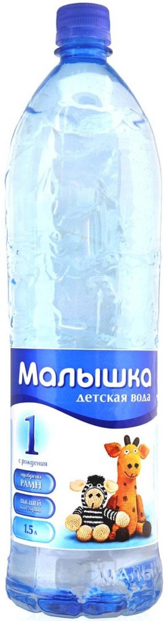 Вода минеральная Малышка 1,5л* купить в Москве по цене от 44 рублей