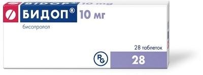 Бидоп таблетки п.о 10мг №28 купить в Москве по цене от 219 рублей