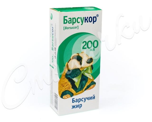 Барсукор Барсучий жир 200мл купить в Москве по цене от 366 рублей