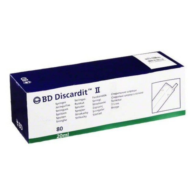Шприц 2-х комп. BD Discardit 20мл №80 купить в Москве по цене от 1300 рублей