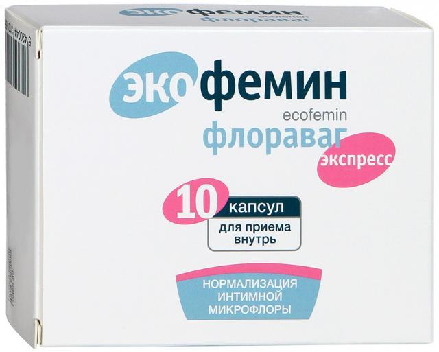 Экофемин Флораваг капсулы №10 купить в Москве по цене от 571 рублей