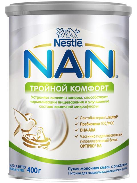 Нан Комфорт смесь мол. 0-6мес. 400г купить в Москве по цене от 908 рублей