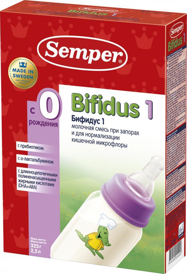 Сэмпер Бифидус 1 смесь мол. 0-6мес. 325г купить в Москве по цене от 0 рублей