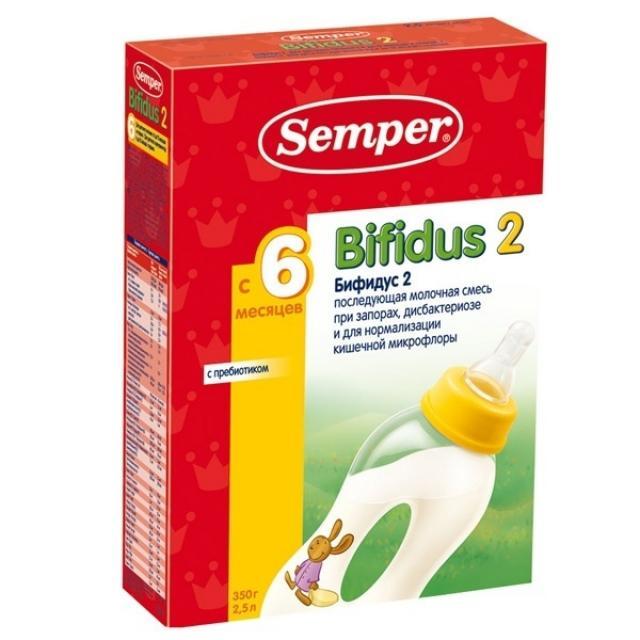 Сэмпер Бифидус 2 смесь мол. 6-12мес. 350г купить в Москве по цене от 0 рублей
