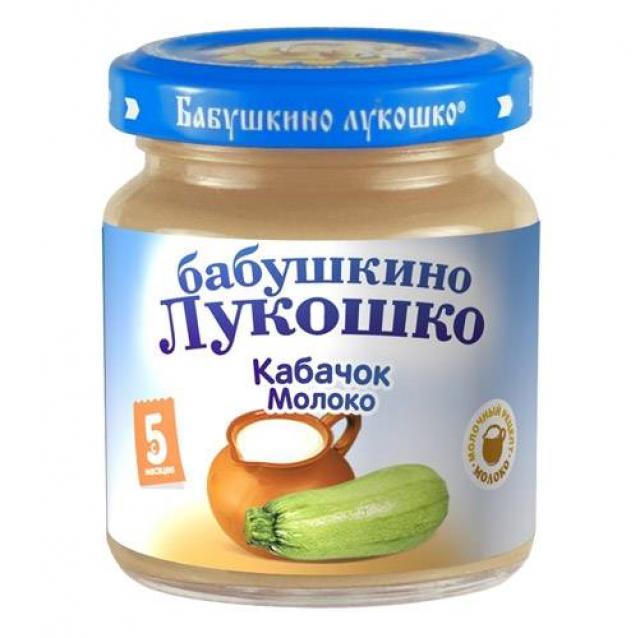 Бабушкино лукошко пюре кабачок/молоко от 5мес. 100г купить в Москве по цене от 0 рублей