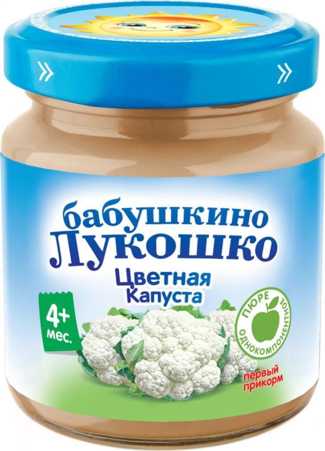 Бабушкино лукошко пюре цв.капуста от 4мес. 100г купить в Москве по цене от 0 рублей