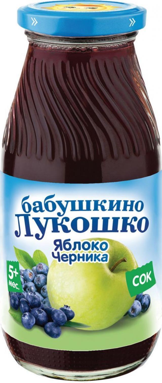 Бабушкино лукошко сок яблоко/черника осветл. от 5мес. 200мл купить в Москве по цене от 0 рублей