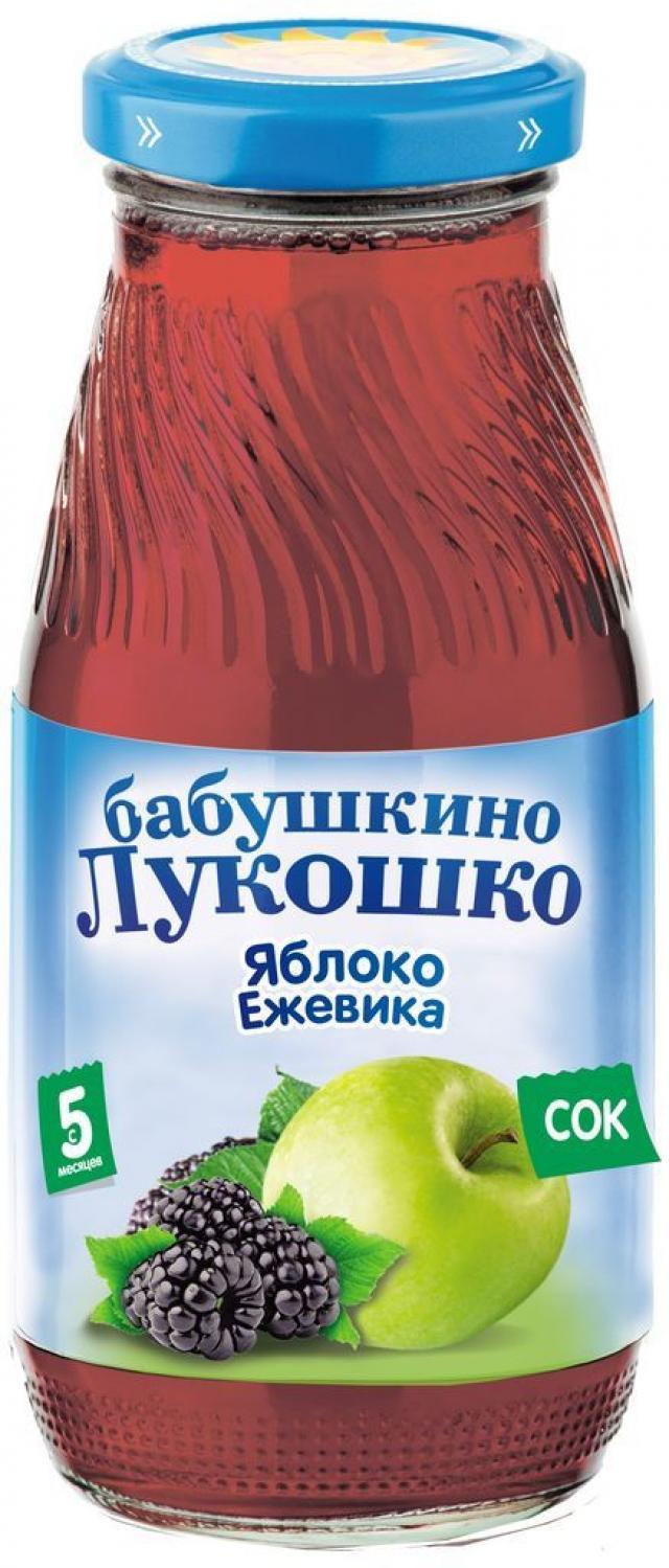 Бабушкино лукошко сок яблоко/ежевика осветл. от 5мес. 200мл купить в Москве по цене от 0 рублей