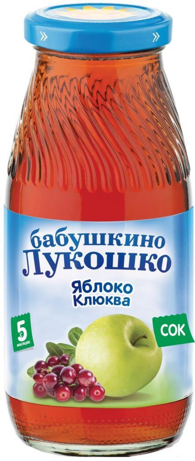 Бабушкино лукошко сок яблоко/клюква осветл. от 5мес. 200мл купить в Москве по цене от 0 рублей