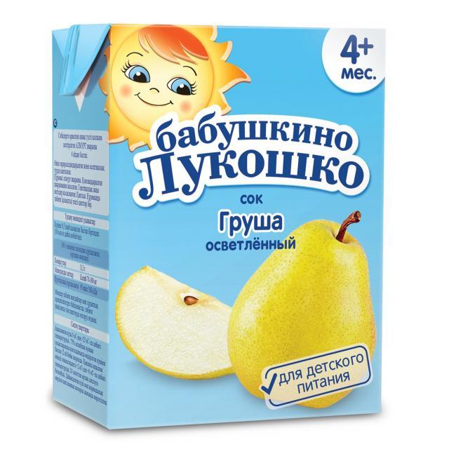Бабушкино лукошко сок груша осветл. без сахара от 3мес. 200мл купить в Москве по цене от 0 рублей